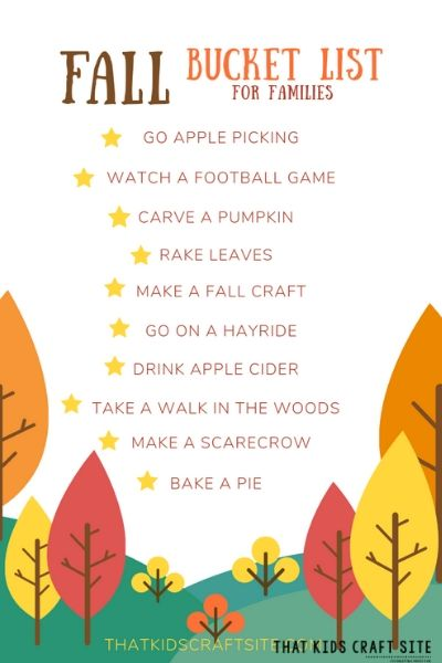 Fun Fall Bucket List for Families - ThatKidsCraftSite.com