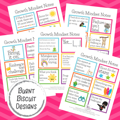 GROWTH MINDSET NOTES- BOLD - BURNT BISCUIT DESIGNS