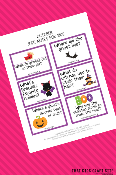 October Halloween Lunch Box Jokes for Kids - ThatKidsCraftSite.com