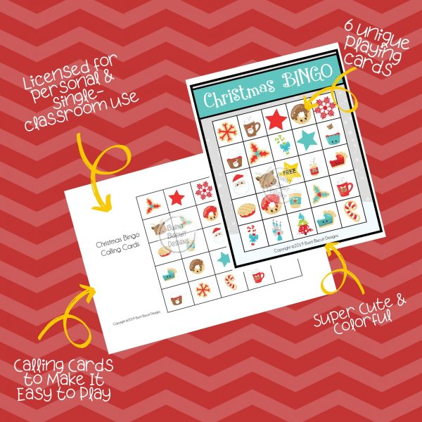 Christmas BINGO Game - Burnt Biscuit Designs