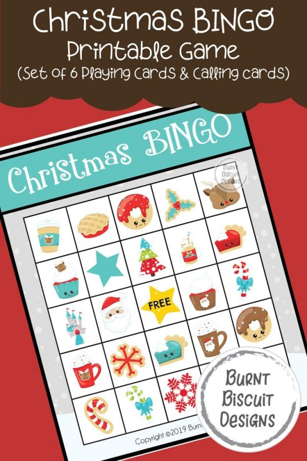 Christmas BINGO Printable Game -Burnt Biscuit Designs