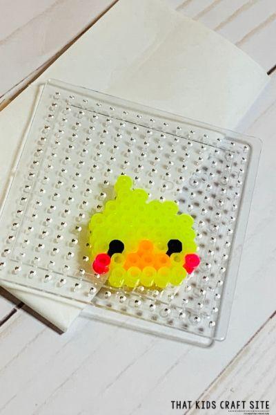 Perler Bead Duck Pattern - ThatKidsCraftSite.com