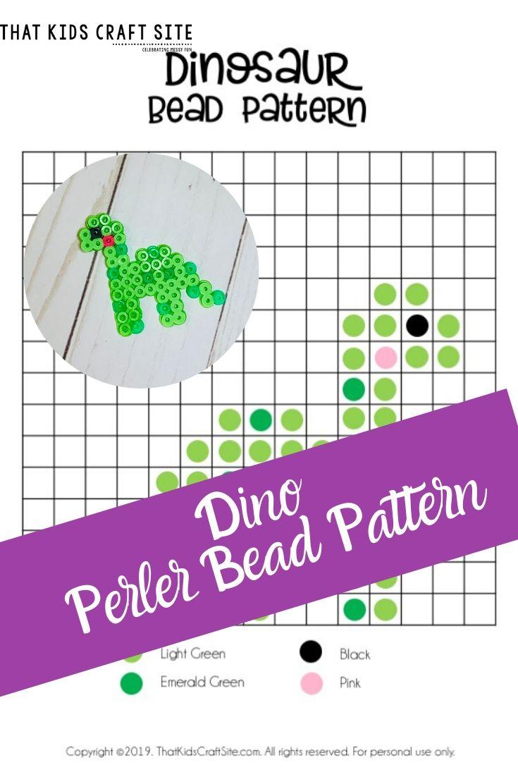 Dinosaur perler beads