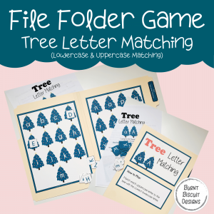 File Folder Game -Tree Letter Matching-Burnt Biscuit Designs
