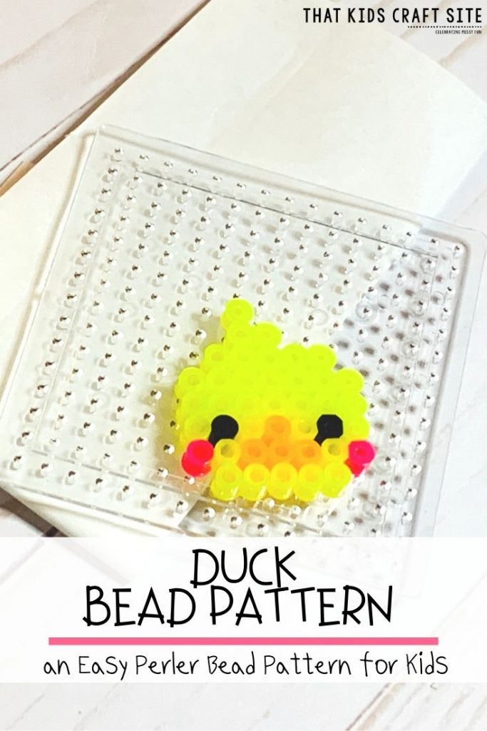 Free Duck Perler Bead Pattern - an Easy Perler Bead Pattern for Kids - ThatKidsCraftSite.com