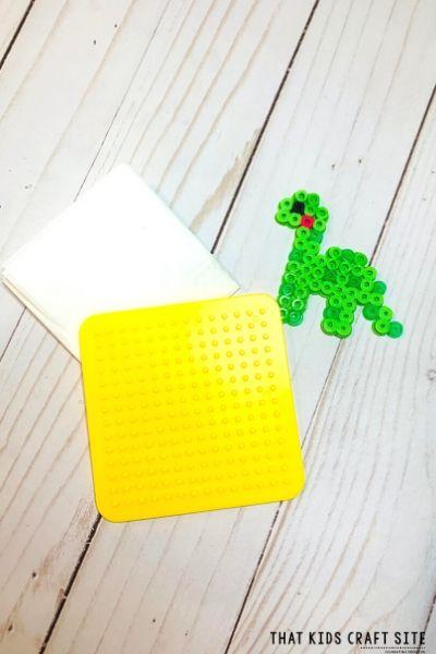 Pattern for Dinosaur Perler Beads - ThatKidsCraftSite.com