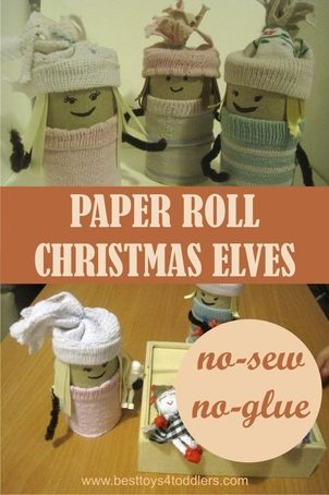 No-Sew & No-Glue Paper Roll Christmas Elves - Best Toys 4 Toddlers
