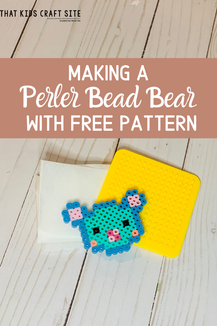 How to Make a Perler Bead Bear with a Free Template from That Kids Craft Site