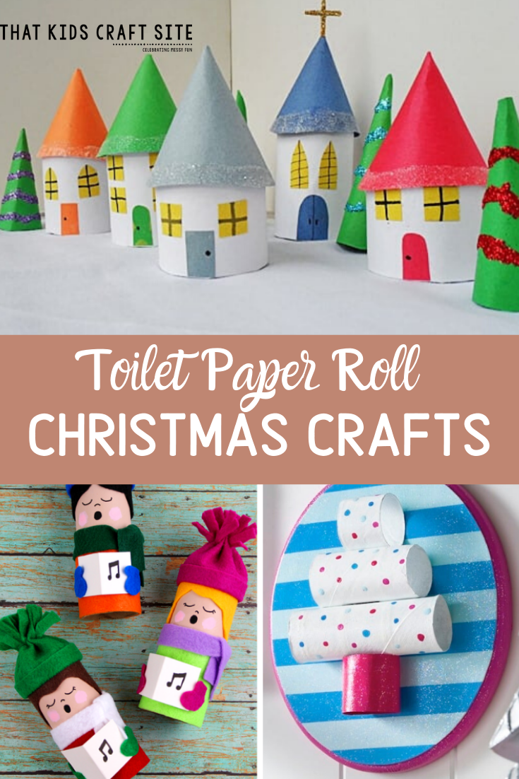 Toilet Paper Roll Christmas Crafts from That Kids Craft Site