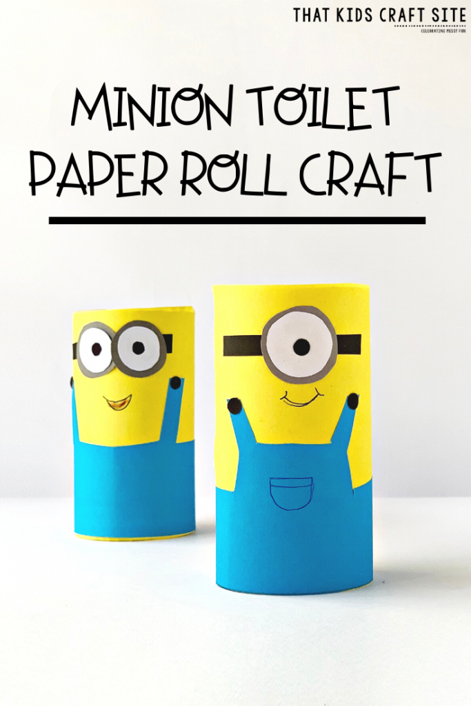 Minion Toilet Paper Roll Crafts for Kids