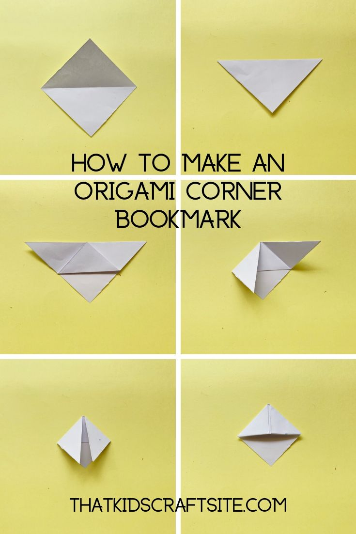 How to Make an Origami Corner Bookmark from That Kids Craft Site