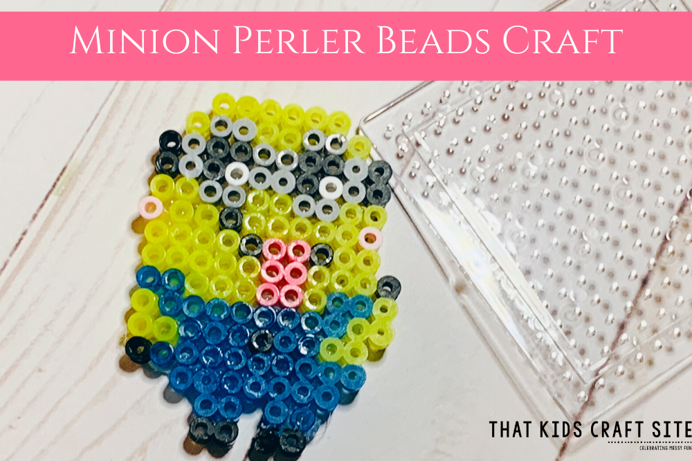 Minion Perler Craft for Kids using melting beads