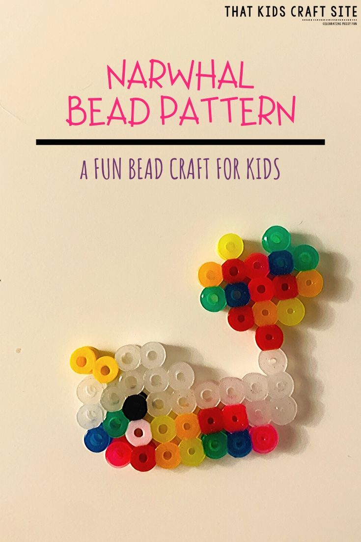 Narwhal Bead Pattern - a Fun Bead Craft for Kids - ThatKidsCraftSite.com