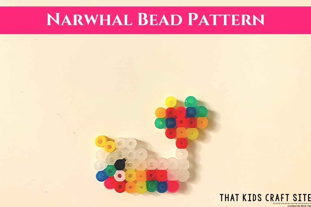 Narwhal Perler Bead Craft for Kids - ThatKidsCraftSite.com