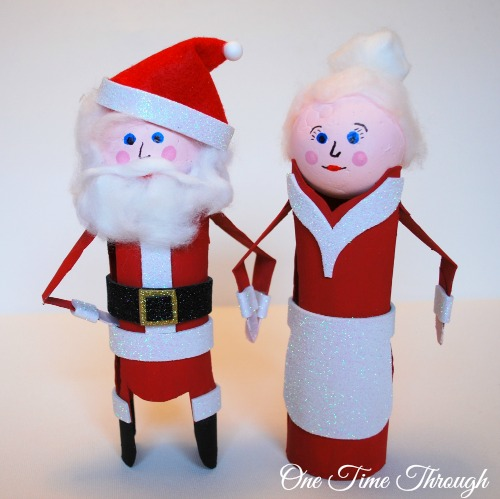 Christmas Paper Roll Santa, Mrs. Claus, Jack Frost and Elves!