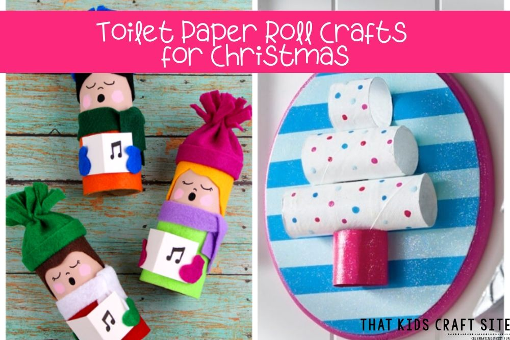Toilet Paper Roll Crafts for Christmas - ThatKidsCraftSite.com