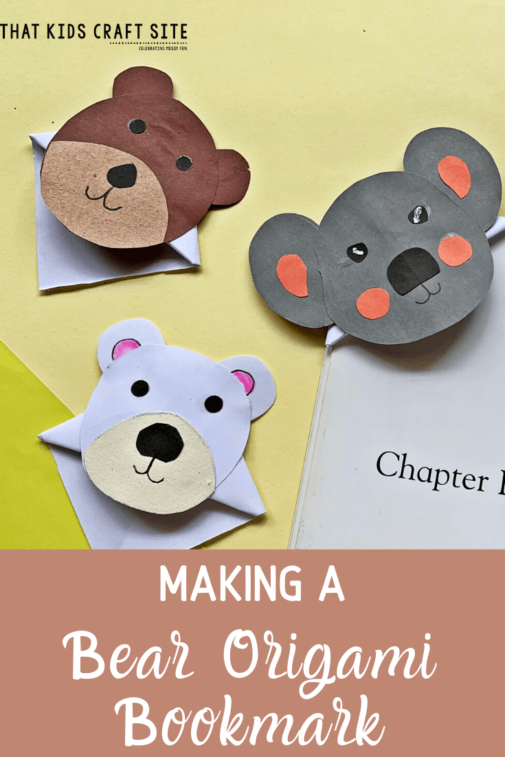 Making a Bear Origami Bookmark