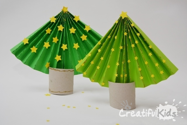 How to Make a Paper Christmas Tree – Simple Christmas Crafts