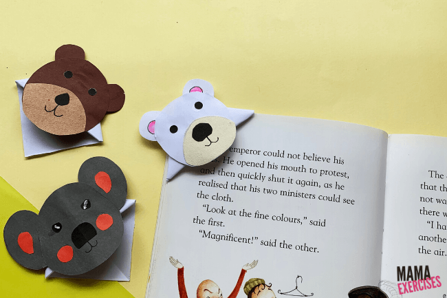 Origami Bookmark with Bears from That Kids Craft Site