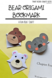 Bear Origami Bookmark Patterns from That Kids Craft Site