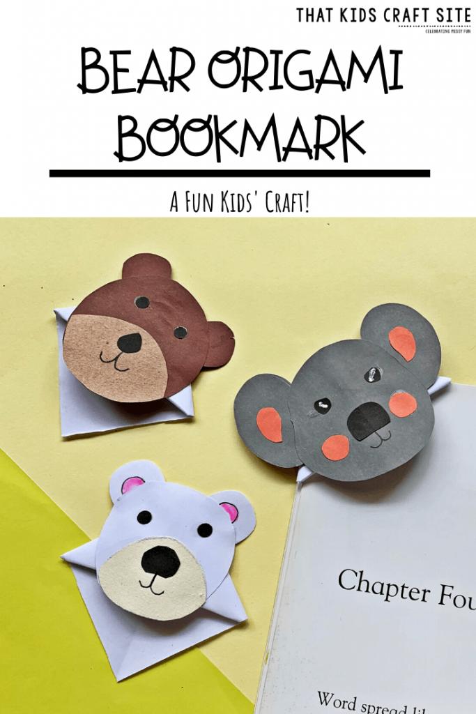 Bear Origami Bookmarks