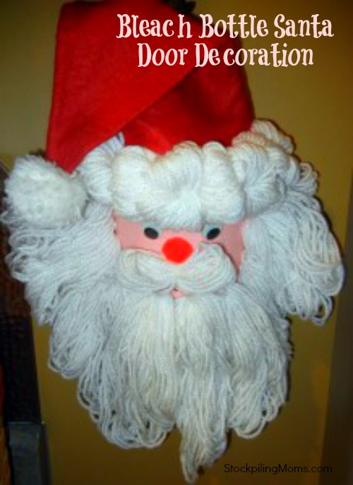 Bleach Bottle Santa Door Decoration