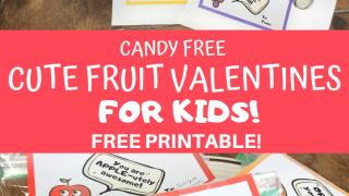 Cute Candy Free Valentine Printable Fruit Set for Kids