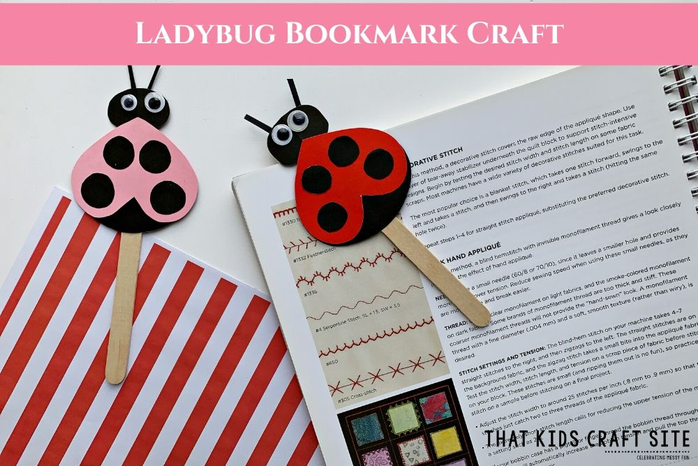 Ladybug Reading Pointer Craft for Kids - ThatKidsCraftSite.com