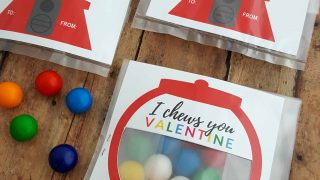 Valentines for Kids: Gumball Machine Free Valentine Card