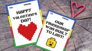 Free Printable LEGO Valentine Cards