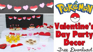 Pokémon Valentine's Day Party with Free Party Decorations