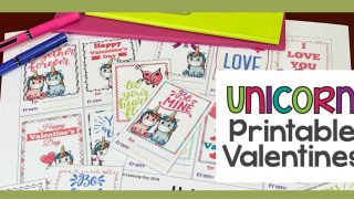 Whimsical and Colorful Valentine Printables Cards for 2019