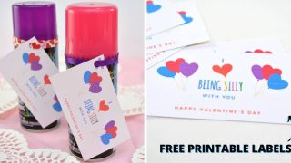 Silly String Valentines for Kids