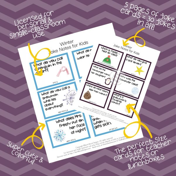Winter Joke Cards - Burnt Biscuit Designs