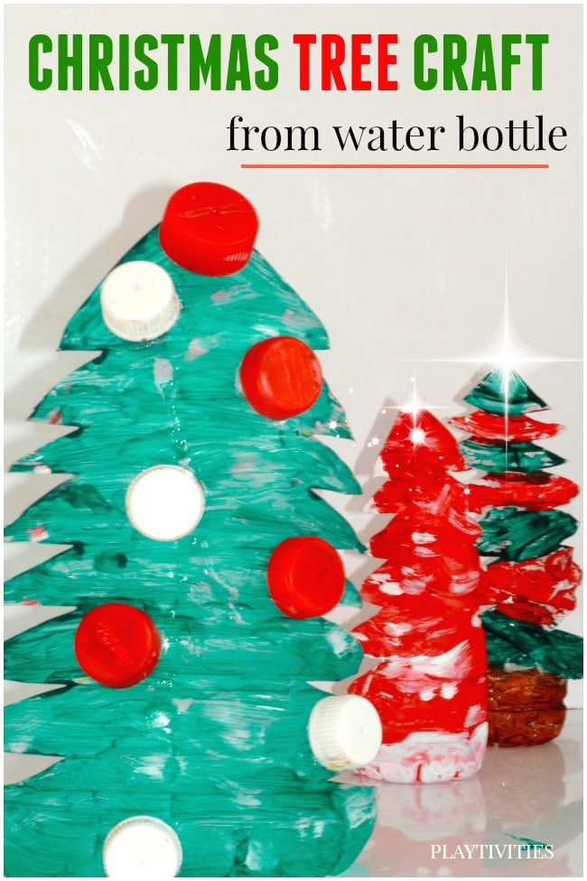 Christmas Tree Craft from Upcycled materials - PLAYTIVITIES