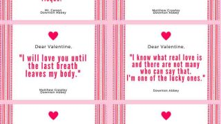 Downton Abbey Valentines Day Cards