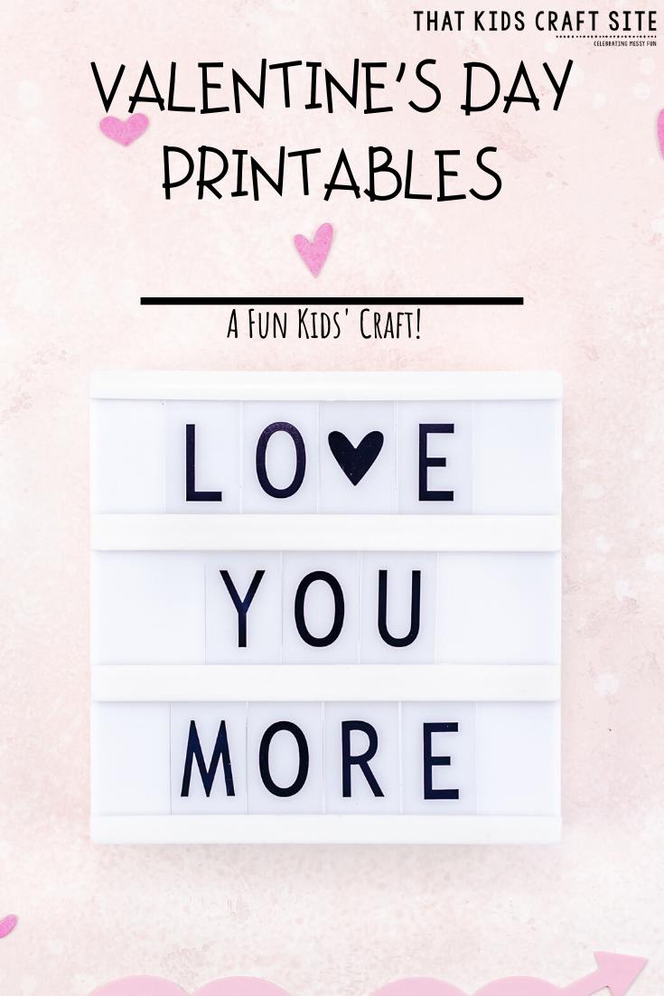 30+ Free Valentine's Day Printables for Kids - ThatKidsCraftSite.com
