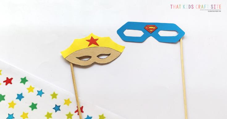 Cool Kids Superhero Masks of Wonder Woman and Superman