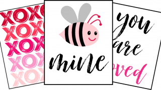 9 Free Valentines Printables That are Cute as Can Bee