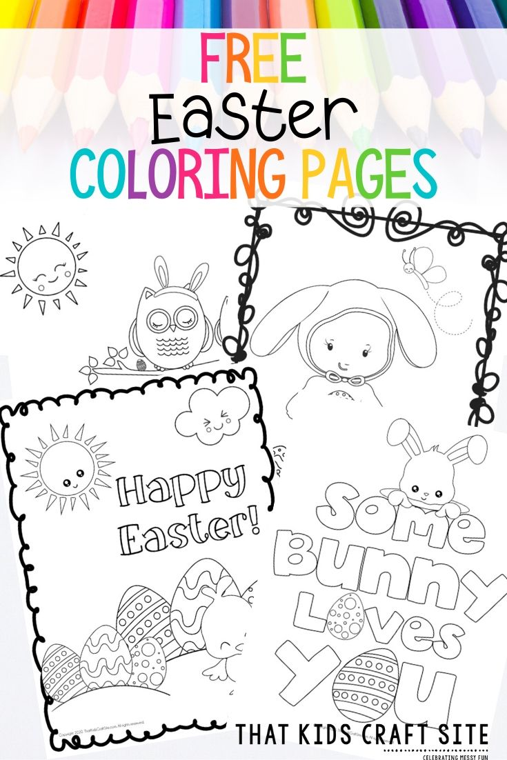 Easter Coloring Pages for Kids - Free Printables for Kids - ThatKidsCraftSite.com