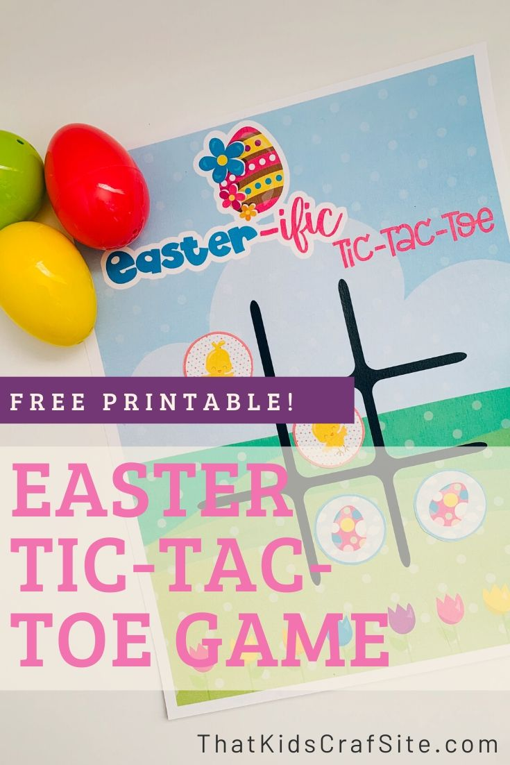 Free Printable Tic-Tac-Toe Easter Game for Kids - ThatKidsCraftSite.com
