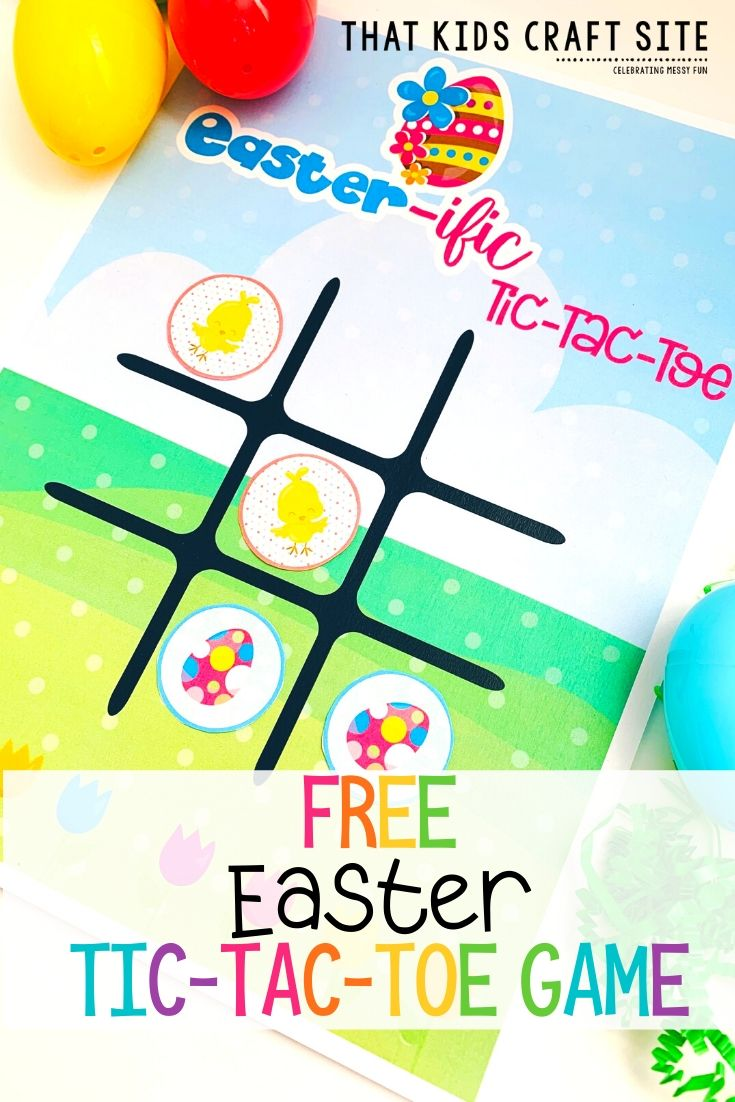 Free Easter Game - Printable Tic-Tac-Toe Easter Game - ThatKidsCraftSite.com