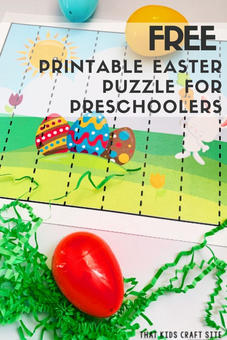 Free Easter Puzzle Printable for Preschool - ThatKidsCraftSite