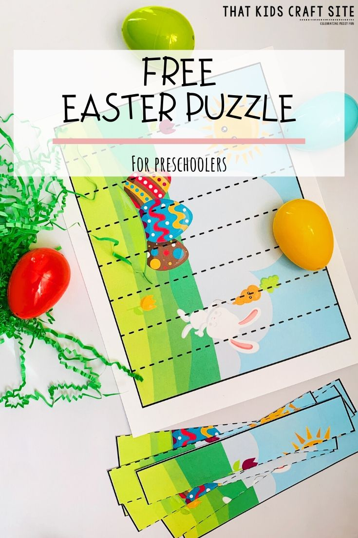 Free Easter Puzzle for Preschoolers - Printable Puzzle for Kids - ThatKidsCraftSite