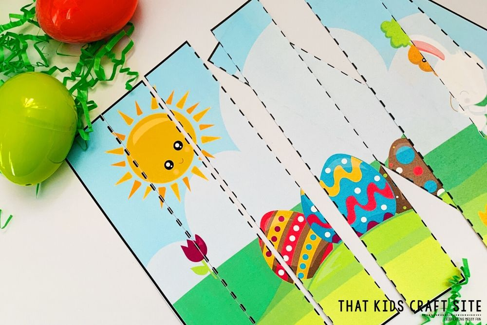 Free Printable Easter Puzzle for Preschoolers - ThatKidsCraftSite