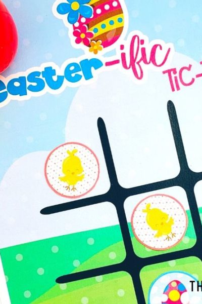 Free Printable Easter Game - Tic-Tac-Toe for Kids - ThatKidsCraftSite.com