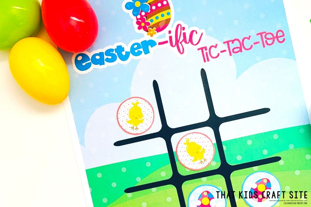 Free Printable Easter Tic-Tac-Toe Game for Kids - ThatKidsCraftSite