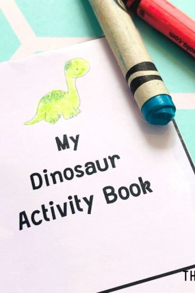 Free Printable Mini Book for Preschool - Letter D - My Dinosaur Activity Book - ThatKidsCraftSite.com