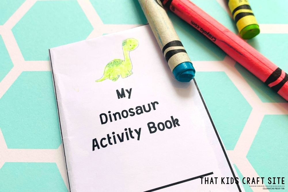 Mini Dinosaur Activity Book for Kids - a Free Printable Alphabet Book (Letter D Activities) for Preschool - ThatKidsCraftSite.com