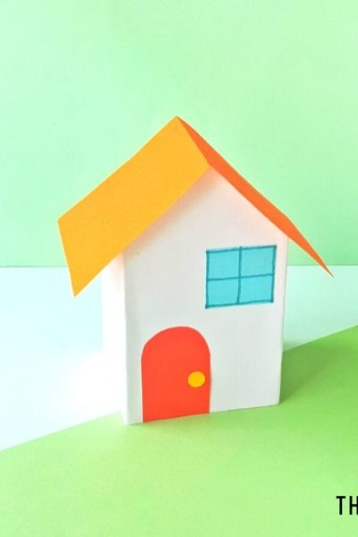 Tiny Paper Houses Craft - ThatKidsCraftSite.com